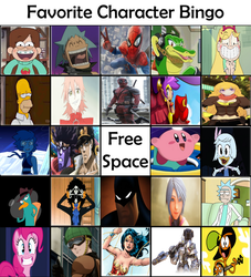 Favorite Character Bingo by lightyearpig