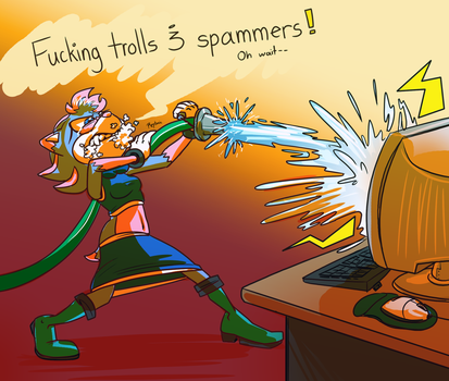 Day 5 - Taking out the flammers by Reptonic