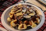 Chocolate Banana Belgium Waffles by Kitteh-Pawz