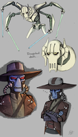 Star Wars Sketches by BlueStripedRenulian