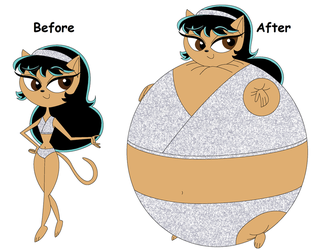 Balloonie Kristina Kittensworth: Before and After by blbr
