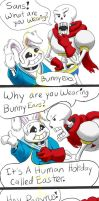 Sans and Papyrus Easter Comic by catgir
