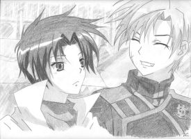 Teito and Mikage by Ashadria