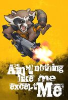 Rocket Raccoon by mistermoster