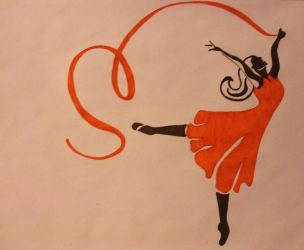 dancing with a ribbon by agnese9