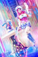 Arcade Miss Fortune and Sona by yayacosplay