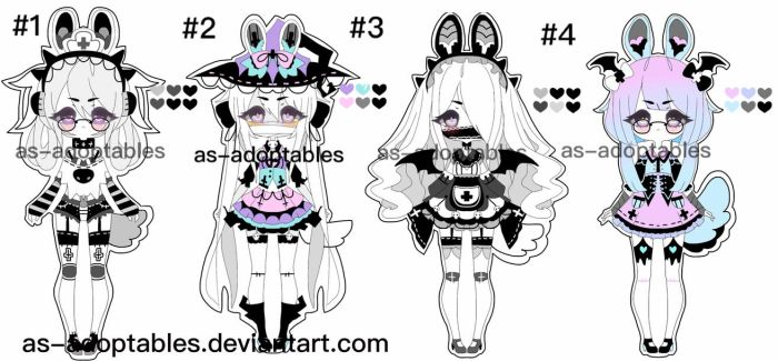 Pluffy Bunny adoptable BATCH OPEN 1/4 by AS-Adoptables