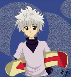 Killua Skateboard by sailorharmony2000