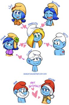 Smurfs: My ships by rinacat