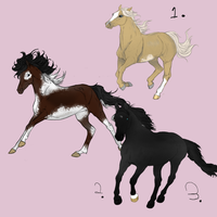 Horse Adopts (All Sold ) by NorthernMyth