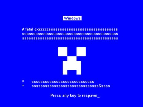 Blue Ssssssssssscreen of Death by MasqueNoMercy