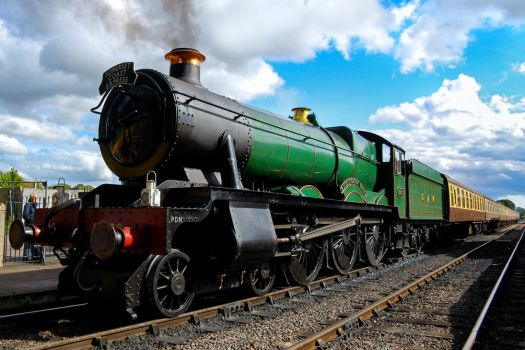 GWR Hall Class 4-6-0 6960 Raveningham Hall by Daniel-Wales-Images
