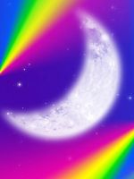 FREE: Rainbow Moonlight Background by Magical-Mama