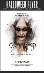 Halloween Party Flyer by Hotpindesigns