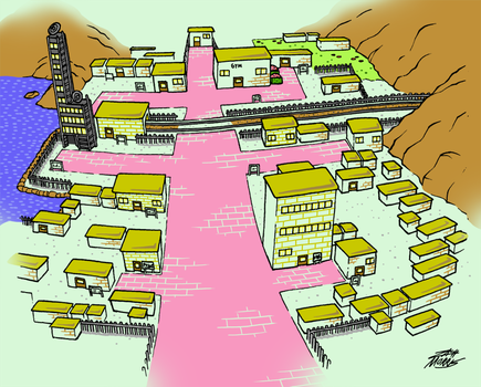 Goldenrod City (Day) by WillDrawForFood1