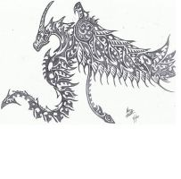 Tribal Dragon by Helletic-Hybrid