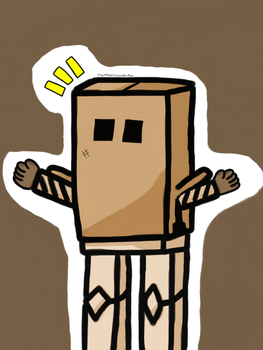 Box Man by TheMagnificentBoxMan