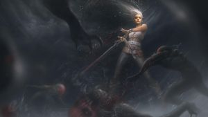 Blood Bath - Ciri by Carlo-Marcelo