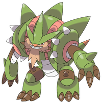 Mega Chestnaught by Phatmon
