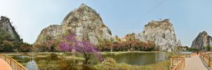 Khao Ngu Pond Panorama by tawunap159