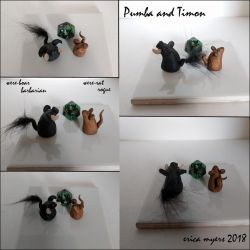 Pumba And Timon Multi View by pucapup