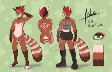 Ashe Fursona Ref by The7thMuse