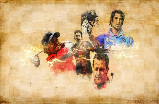 A COLLAGE DEDICATED TO THE BEST SPORTSMEN by kitu123