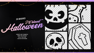 IT'S ALMOST HALLOWEEN | BRUSHES #2 by Mondai-Girl