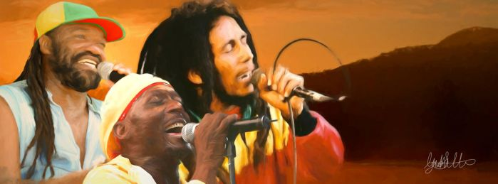 Reggae Painting - Tribute to Reggae Month by ARBOCAL
