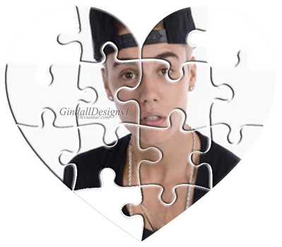 Gindalldesigns Justin Bieber Corazon Puzzle Png By Gindalldesigns