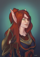 Commission-Blood Elf Rogue by nozomi-M