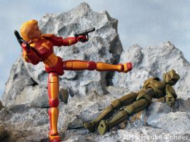3D printed Space Hero vs Android by hauke3000
