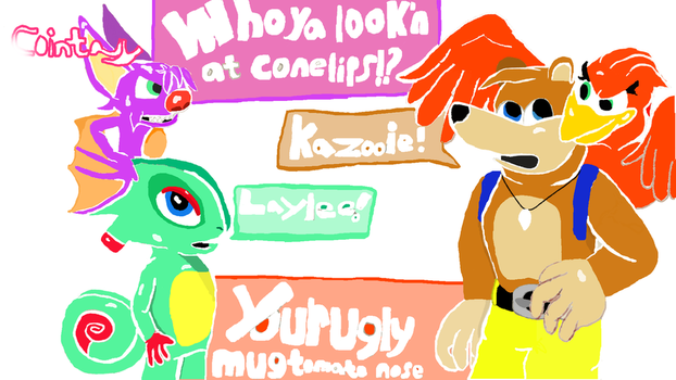 The meeting of Banjo Kazooie, and Yooka Laylee by Cointasy