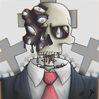 Paranoid Skull by Hntpo