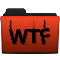 Orange WTF folder png by gravitymoves
