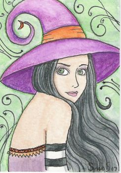 aceo witch by witchyart