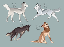 Wolf Adoptables Batch 2 CLOSED by Hyperesis
