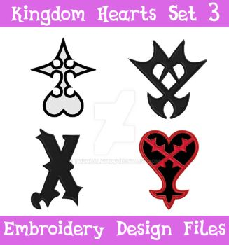 Kingdom Hearts Set 3 [EMBROIDERY FILES] by TheHarley