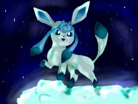 Glaceon  by Bailey-Draws