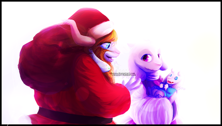 Undertale: Merry First Christmas, Asriel. by Cleasia