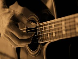 Sepia Guitar 11710465 by StockProject1