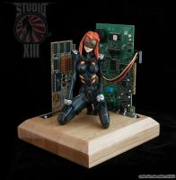 Black Motoko Ghost in the Shell garage kit by Michael-XIII