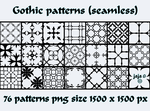 Gothic patterns by jojo-ojoj