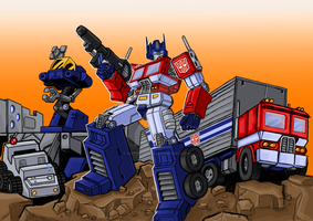 Commission: Optimus Prime by Natephoenix