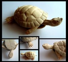 Turtle Carving Unpainted by Zillaan
