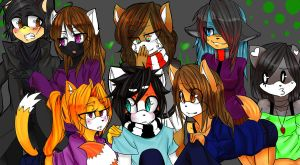 My Friends :D by SeraTheRaccoon