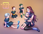 Idina Kurozuki and her daughters by Elyn Gontier by Gwarriorfanfic