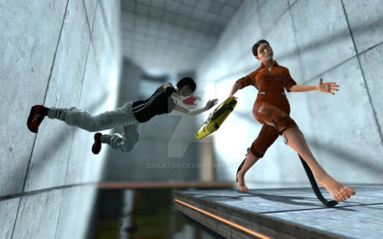 Chasing Chell by diolator