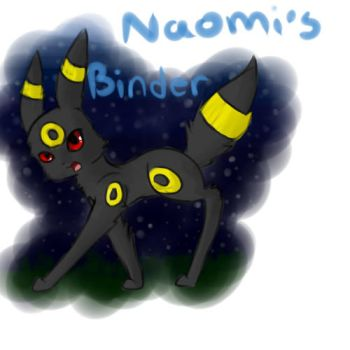 Umbreon Binder Cover by TheMagicCupcake