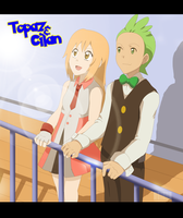 Commission: topaz and Cilan by tenchufreak